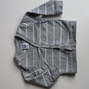 Zara Baby Grey Striped Cardigan * 6-9M